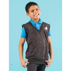 Grafitová chlapecká pletená vesta