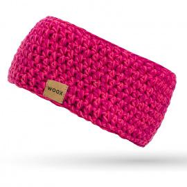Merino čelenka Meri Pink Headband